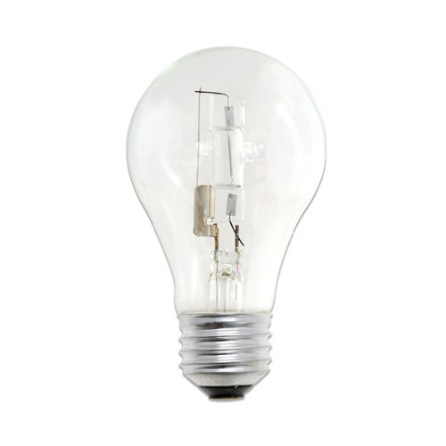 Bulbrite 53A19CL/ECO Eco-Friendly Halogen 53W A19, Clear, 2-Pack