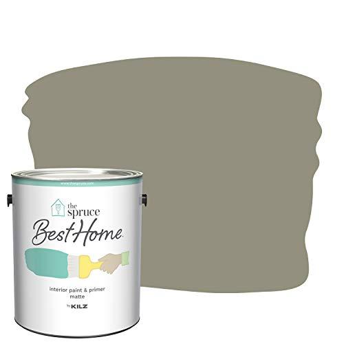 The Spruce Best Home by KILZ 15119701 Interior Matte Paint & Primer in One, 1 Gallon, SPR-08 Winter Wreath