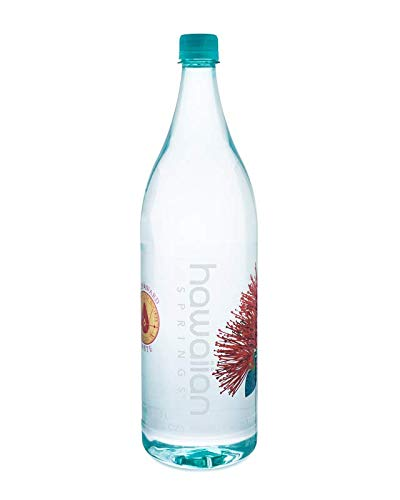 Hawaiian Springs- Volcanic Artesian Alkaline Bottled Water | Natural Electrolytes, More Energy Sourced On Big Island Hawaii | The Taste of Paradise 1.5 L (Pack of 12)
