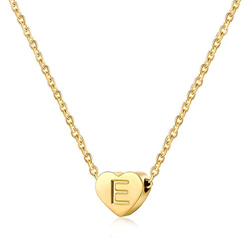 Child Necklace Tiny Initial Necklaces for Women Heart Letter Initial Necklace Gifts for Girls Teens