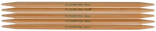 Clover Takumi 7-Inch Double point, Size 4,Pack of 5