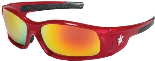 Crews SR13R Swagger Brash Look Polycarbonate Dual Lens Glasses with Crimson Red Frame and Fire Red Lens