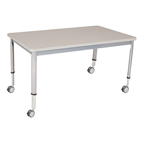 """Learniture Adjustable-Height Planning Desk, Gray Spectrum Top, 48"""" W x 30"""" D, LNT-INM3048GS-SO"""