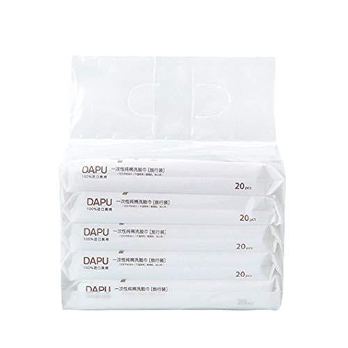 """Facial Tissues, Paper Towels Toilet Paper 100% Soft Cotton Tissue, Disposable Face Towel (7.87""""×4.33"""" 100 Counts)"""