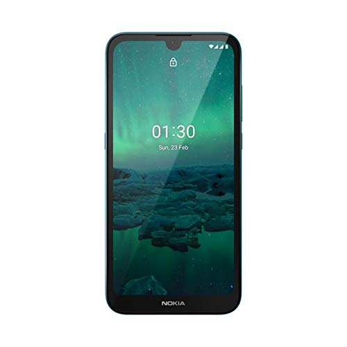 """Nokia 1.3 Fully Unlocked Smartphone with 5.7"""" HD+ Screen, AI-Powered 8 MP Camera and Android 10 Go Edition, Cyan, 2020 (AT&T/T-Mobile/Cricket/Tracfone/Simple Mobile)"""