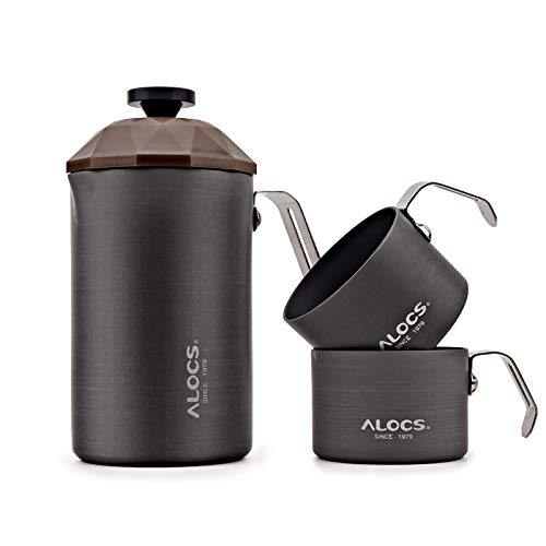 Alocs Camping French Press Coffee Maker Portable for Indoor & Outdoor