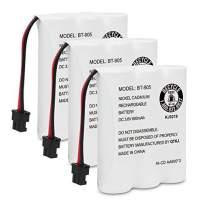 QTKJ BT-905 Rechargeable Cordless Handset Phone Battery Compatible with Uniden BT905 BT800 BT-1006 BP-905 P-P501 BP-905BBTY-0444001 BBTY-0449001 (3-Pack)