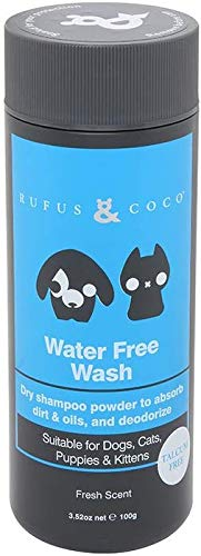 Rufus & Coco Natural Dry Shampoo for Dogs with Conditioner   Sulfate & Paraben Free, pH balanced   Hypoallergenic Fresh Fragrance, Safe for Cats and Dogs