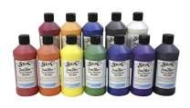 Sax True Flow Heavy Body Acrylic Paint Set, Pints, Assorted Colors, Set of 12 - 439304