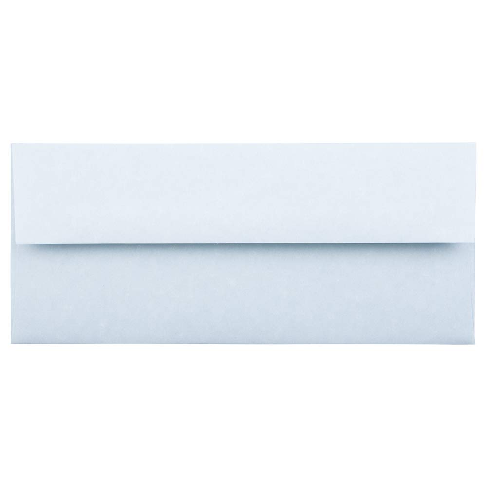 JAM PAPER #10 Business Parchment Envelopes - 4 1/8 x 9 1/2 - Blue Recycled - 25/Pack