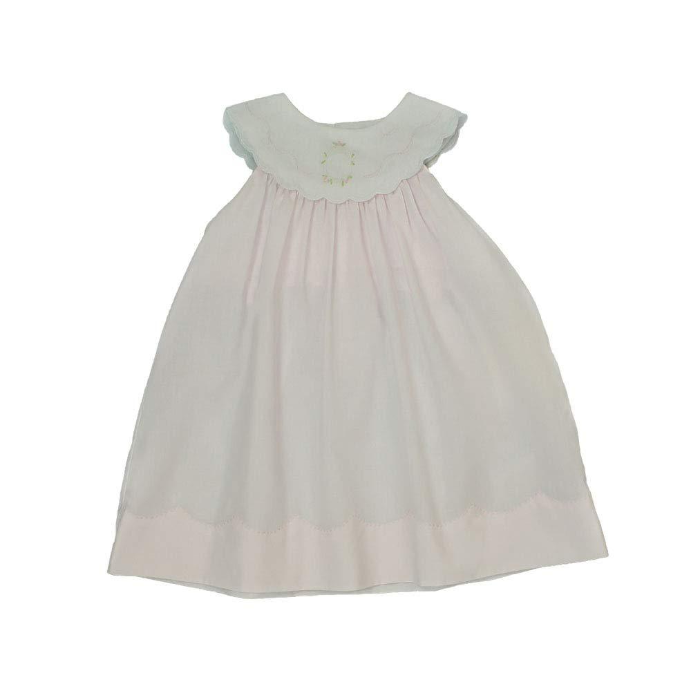 Petit Ami Baby Girls' Dress with Shadow Stitch Collar