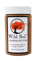 Wild Soil Almond Butter, Distinct and Superior to Organic, Herbicide Free, Probiotic, Unsalted, No Additives, 16oz Jar