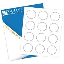 2 Inch Round Labels - Pack of 1,200 Circle Stickers, 100 Sheets - Inkjet/Laser Printer - Online Labels - Canning/Mason Jar