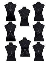 FIBO STEEL Body Chain Jewelry for Women Bikini Belly Chain Necklace