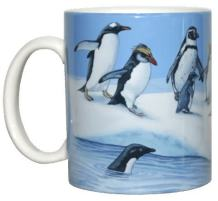 WILD COTTON Penguins OW 11 Ounce Ceramic Coffee Mug (WC423M)