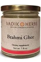 Brahmi Ghee (Herbal ghee) by Vadik Herbs | Premium potency herb in a natural, fresh ghee base ~ Made in the USA every week