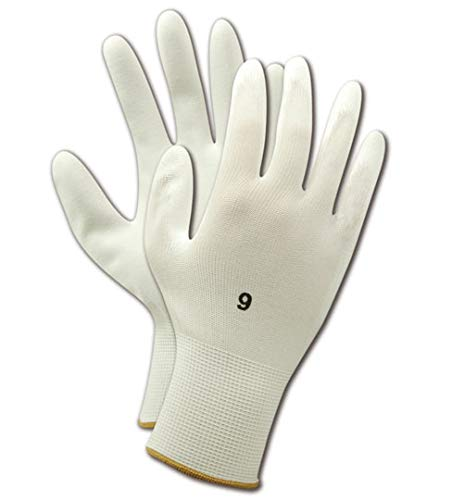 Magid Glove & Safety JPS2-6 Magid ROC JPS2 Polyurethane Palm Coated Gloves, 11, White , 6 (Pack of 12)
