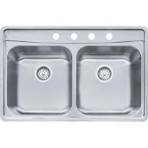 Franke EVDCG804-18 Sink, 8-Inch, Stainless Steel