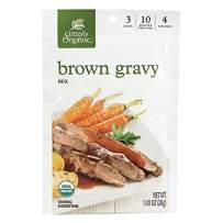 Simply Organic Brown Gravy Mix, Certified Organic, Gluten-Free   1 oz   Pack of 12