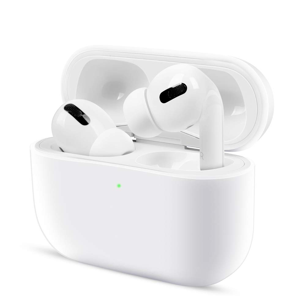 top4cus Case Compatible with Airpods Pro Case, Ultra Slim Silicone Airpods Pro Case Protective Cover Skin for Airpods 3 Wireless Charging Case(White)