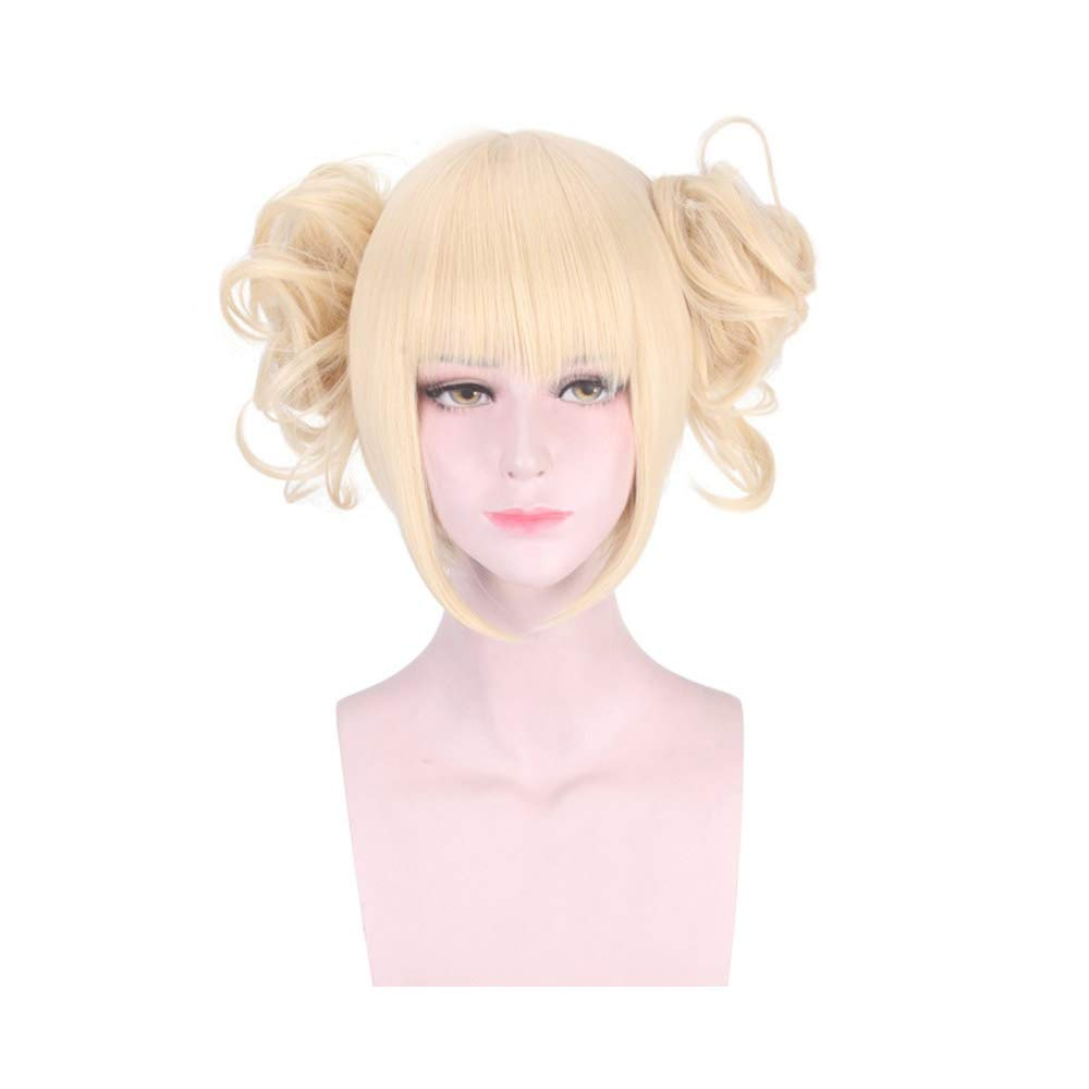 XCJLW Anime Cosplay Wigs for My Hero Academia Himiko Toga Short Blonde Wig