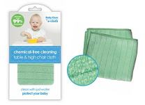 E-Cloth Table & High Chair Cloth - Brilliant Chemical-Free Cleaning for Baby - Premium Microfiber - Just Add Water