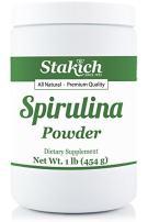 Stakich Spirulina Powder 1 Pound - USDA Organic, Pure, All Natural