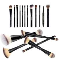 EVE PEARL 18 Pcs Brush Blowout Set Foundation Concealer Contour Blending Powder Eyes Must Have Makeup Brushes Kit Synthetic Cruelty Free Hypoallergenic