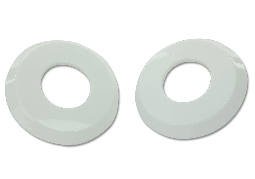 Aqua Select Escutcheon Plate Set for Inground Swimming Pool Or Spa Hand Rail | White Inground Pool Plastic Plates for Pool Ladder | Corrosion Resistant | Set of 2