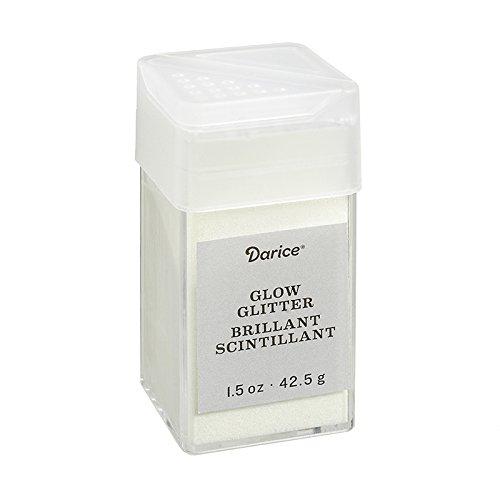 Darice 30029659 Powder Glitter, 1.5 oz, Glow in the Dark