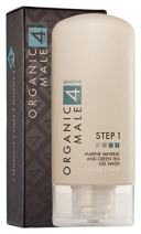 Organic Male OM4 Sensitive Step 1 - Marine Mineral and Green Tea Gel Wash (5.0oz) Organic Face Cleanser for all skin types