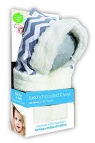 E-Cloth Luxury High-Performance Hooded Baby Bath Towel with Micro-Dry Technology - Grey, Regular