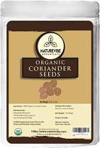 Organic Coriander Seeds (1 Lbs) by Naturevibe Botanicals | Raw, Gluten-Free & Non-GMO | Adds Flavor and Taste