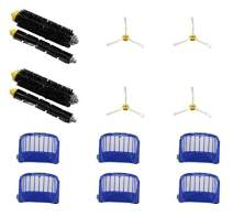 IRICO 1-Year Roomba Replacement Parts 595 600 Series | Replenishment Kit with 2 Brush Sets & 6 Filters & 4 Side Brushes for Roomba 595 614 620 630 650 660 671 680 690