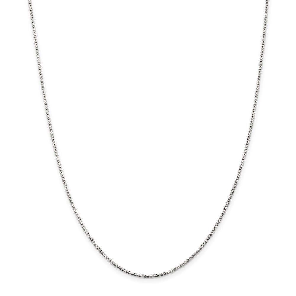 925 Sterling Silver 1.25mm Link Box Chain Necklace 30 Inch Pendant Charm Fine Mothers Day Jewelry For Women Gifts For Her