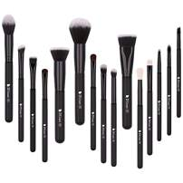 DUcare Makeup Brush Set 15pcs Professional Synthetic Essential Face Eye Shadow Eyeliner Foundation Blush Lip Powder Liquid Cream Blending Brow Brushes Make Up Brushes Set