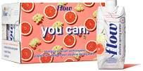 Flow Alkaline Spring Water, Organic Grapefruit + Elderflower Natural Alkaline Water pH 8.1, Electrolytes + Essential Minerals, Eco-Friendly Pack, 100% Recyclable, BPA-Free, Non-GMO, Pack of 12 x 500ml