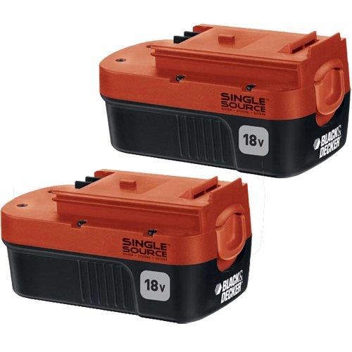 BLACK+DECKER 18 Volt Battery NiCd 2-Pack (HPB18-OPE2)