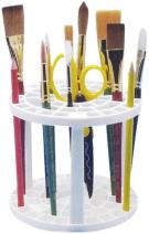 Studio 71 Pencil and Brush Stand, White Plastic, Round