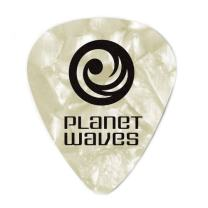 Planet Waves White Pearl Celluloid Guitar Picks, 100 pack, Light