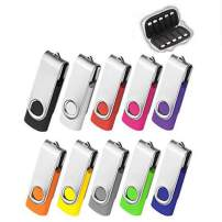 ARETOP 8GB Flash Drive 10 Pack with Easy-Storage Bag 8GB Thumb Drive Pen Drive 8 Gig Memory Stick USB2.0 Pendrive 8GB Thumb Drives for Fold Date Storage (10 PCS - 10 Mix-Colors)