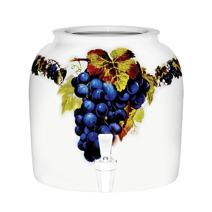 Ceramic Water Crock Dispenser - Grapes