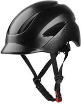 MOKFIRE Adult Bike Helmet That's Light, Cool & Sleek, Cycling Helmet CPSC and CE Certified with Rear Light for Urban Commuter Adjustable Size for Adult Men/Women