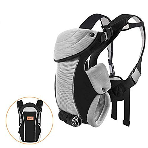 Bable Baby Carrier Ergonomic, Soft Carrier Newborn-for Baby 8-20 lbs-Baby Wrap Carrier Comfortable for All Seasons (Black)