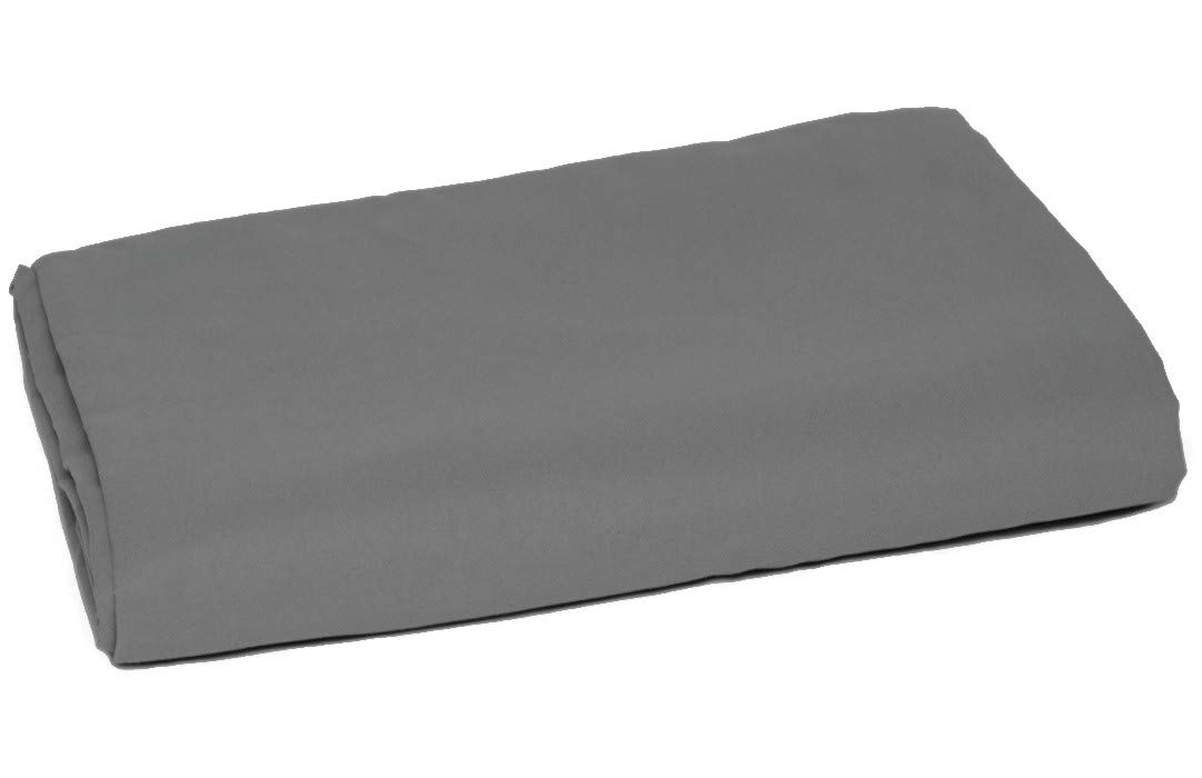 American Pillowcase Queen Size Flat Sheet Only - 100% Brushed Microfiber - Pieces Sold Separately for Set Guarantee (Gray)