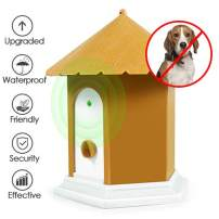 Anti Barking Device, 2020 New Bark Box Outdoor Dog Repellent Device with Adjustable Ultrasonic Level Control, Sonic Bark Deterrents, Humane Automatic Anti-Bark Control for Small Medium Large Dogs