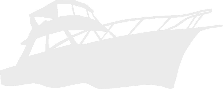 hBARSCI Cruiser Yacht Vinyl Decal - 5 Inches - for Cars, Trucks, Windows, Laptops, Tablets, Outdoor-Grade 2.5mil Thick Vinyl - White