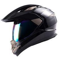 1Storm Dual Sport Helmet Motorcycle Full Face Motocross Off Road Bike Glossy Black,Size Large