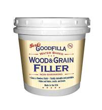 Water-Based Wood & Grain Filler (Trowel Ready) - Walnut - 1 Quart By Goodfilla | Replace Every Filler & Putty | Repairs, Finishes & Patches | Paintable, Stainable, Sandable & Quick Drying