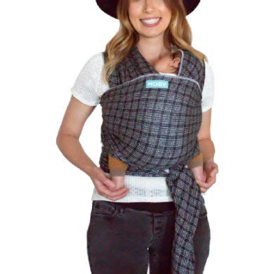 Moby Evolution Baby Wrap Carrier (Stitches) - Toddler, Infant, and Newborn Wrap Carrier - Wrap Baby Carrier Ideal for Parents On The Go - Ergonomic Baby Wrap for Mom Or Dad - A Registry Must Have